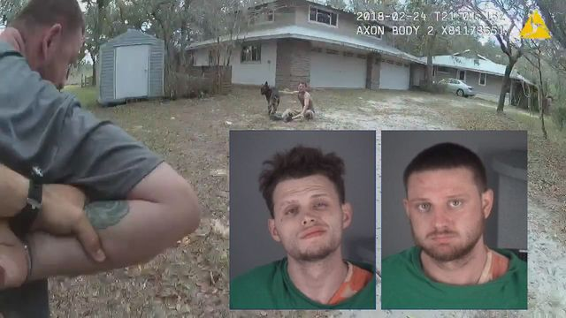 Nick and Shep------Body camera video released by the Pasco County Sheriff's Office shows a deputy and his K9 partner capturing two men accused of stealing and crashing a SUV.