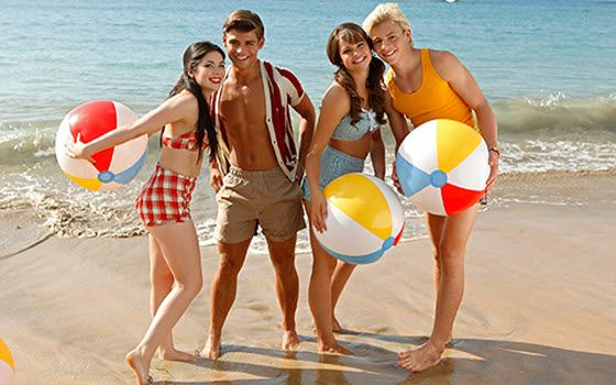 Teens get trapped in 60s beach novie in Disney Channel's Teen Beach Movie
