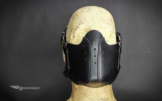df5821f8ae4a Steampunk Mask - Leather Mask - Burning Man - Halloween Mask - Mouth Mask -  LARP - Cyberpunk mask - cosplay - post apocalyptic - gas mask   Кожа