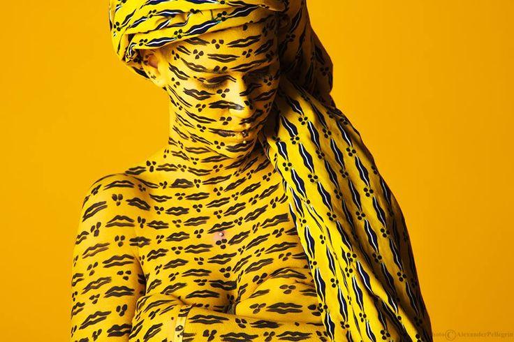 Camouflage Bodypainting by Giada Yu Gilardoni Ph: Alexander Pellegrin Waxewul <3 Milan, 2016