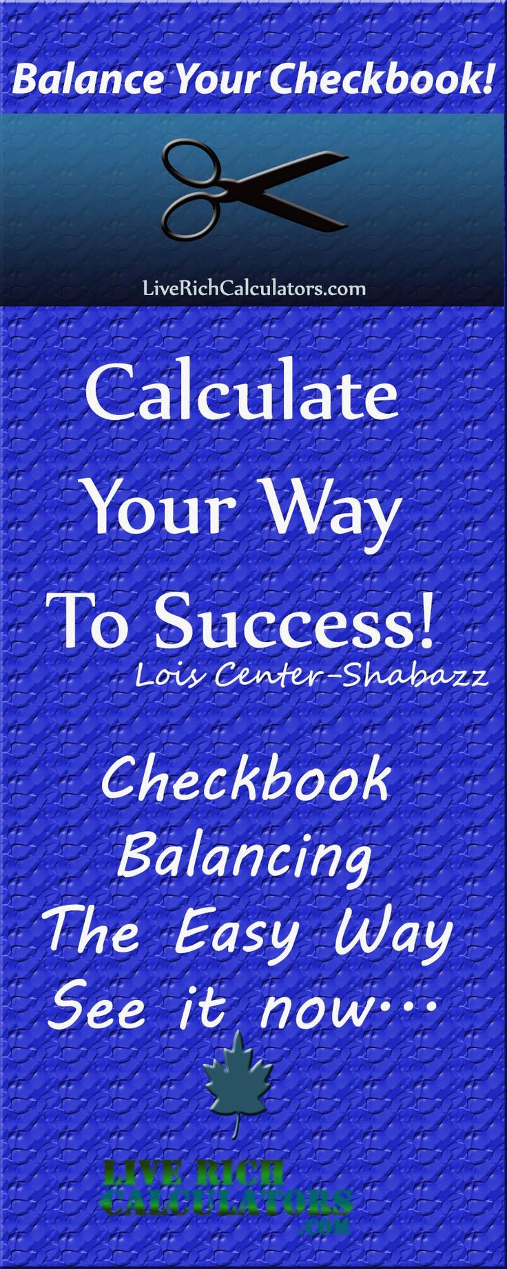 Check balancing the easy way. Use this convenient financial calculator. http://www.liverichcalculators.com/account-reconciliation-calculator.html