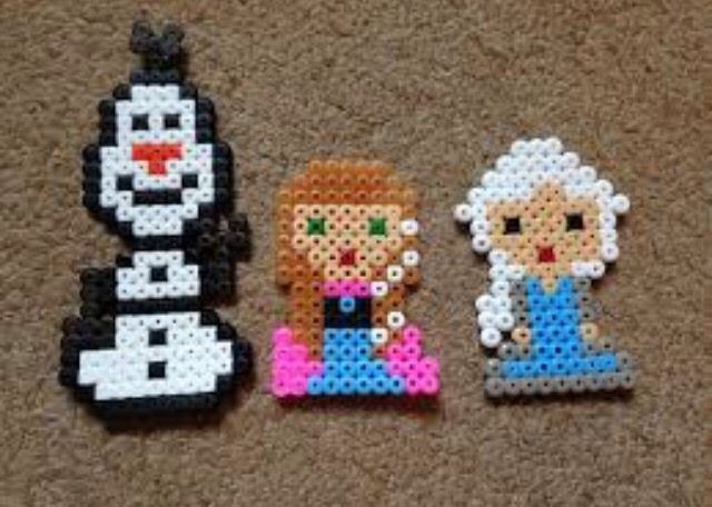 Perler Beads Disney Frozen Olaf