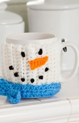 crochet snowmen flip flops | Snowman Mug Hug Crochet Pattern « The Yarn Box