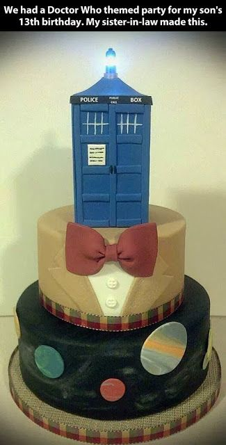 """This does *not* go on the food board.  It goes on the """"Charity wants this for any occasion...  If you love her, don't buy another Christmas gift, get her a Doctor Who cake"""" board."""
