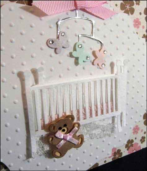 altered baby crib card