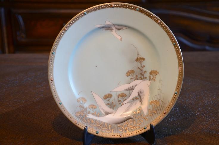 "http://www.ebay.com/itm/Vintage-Japanese-Nippon-8-Plate-Dish-Dishes-Swan-Bird-Crane-Salad-Japan-Antique-/141120003934?pt=LH_DefaultDomain_0&hash=item20db685f5e  Vintage Japanese Nippon 8"" Plate Dish Dishes Swan Bird Crane Salad Japan Antique  #antique #Nippon #Japanese $88.00"