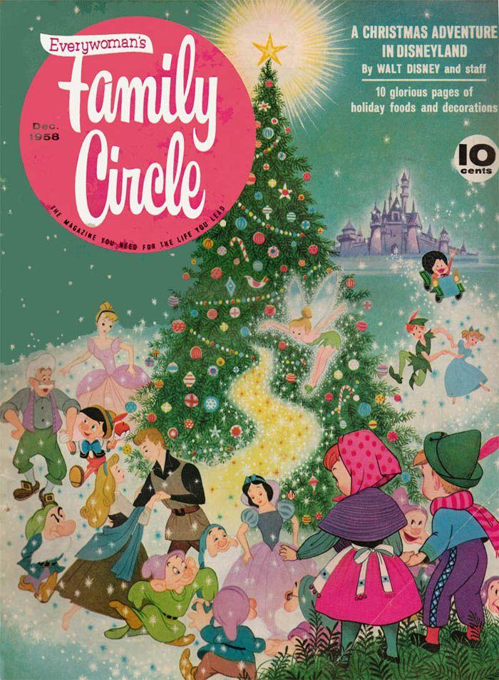 Christmas, 1958: December 1958, Circles Magazines, Vintage Christmas Disney, Christmas Adventure, Circles December, Fake Families, Vintage Disney Christmas, Magazines Covers, Families Circles