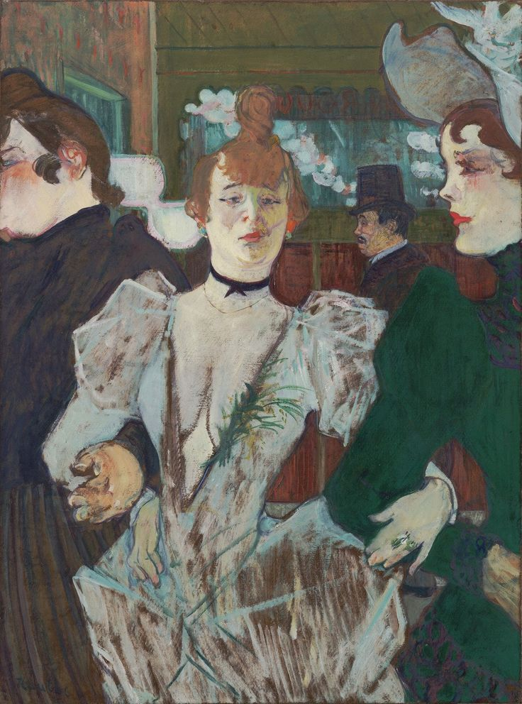 """whenyouwereapostcard: """"Henri de Toulouse-Lautrec La Goulue at the Moulin Rouge 1891 - 1892 """""""