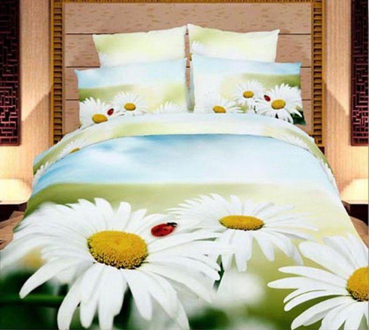 Chrysanthemum Green Ladybug Bedding Set