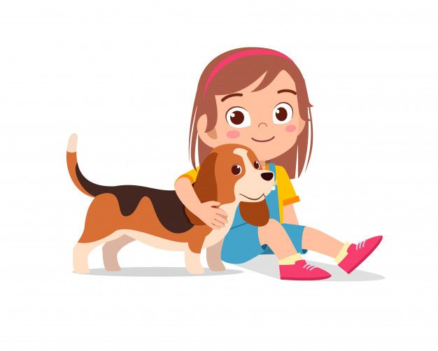 Happy Cute Little Kid Boy Girl Play With Premium Vector Freepik Vector Cartoon Kids Kid Character Cute Clipart