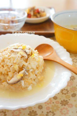 ◆残りもので中華ランチ◆蟹缶のスープかけ炒飯 by アップルミントさん ...
