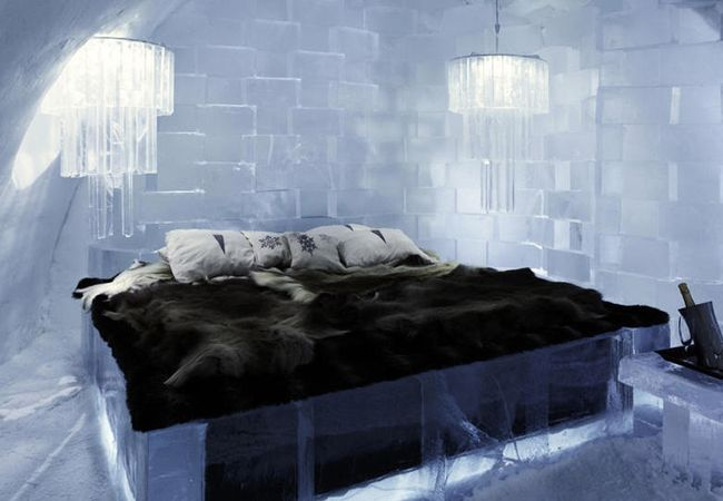 ICEHOTEL in Jukkasjärvi, Sweeden  From: 3 Ice Hotels For Your Honeymoon (No, Seriously)