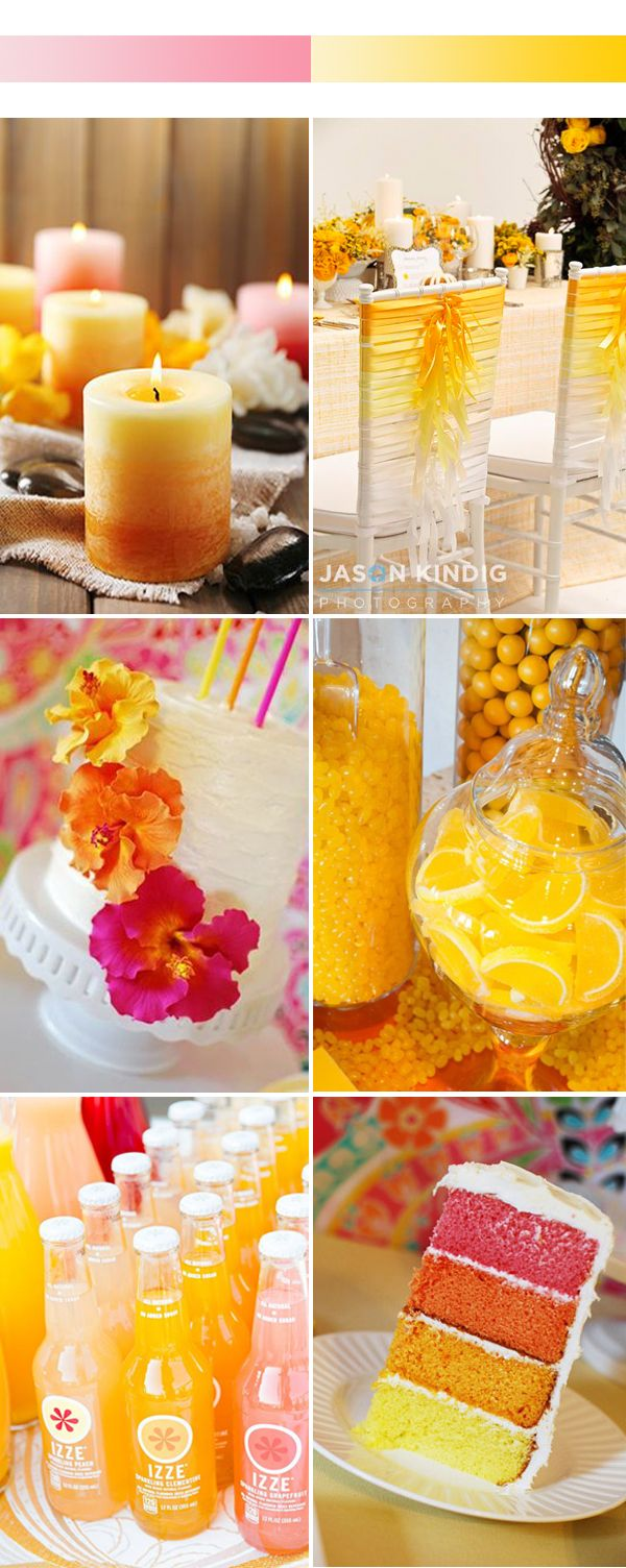 OMBRE:  red, orange, tangerine, yellow --- ADD PINK