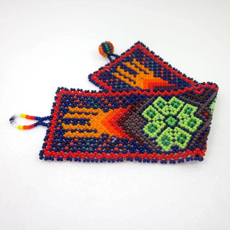 Huichol, Huichol Peyote Jewelry, Mexican Jewelry, Indian Jewelry, Peyote Buttons, Peyote Cactus by LeviathanJewelry on Etsy #huichol #huicholpeyotejewelry #mexicanjewelry