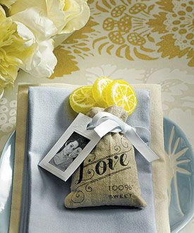 Mini Linen Drawstring Pouch with Vintage Infused Love Print
