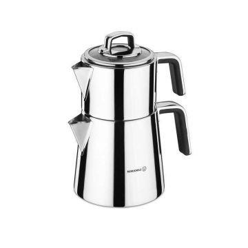 Korkmaz A081 Vertex Çaydanlık Takımı siyah