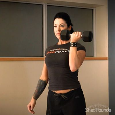 ShedPounds exercise tip: Arnold Press. Watch the full video here: http://shedpounds.com/promovideo/uNctLzfoMM8