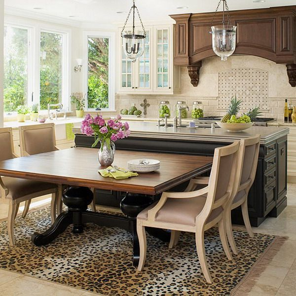 Kitchen Island Table Granite: 13 Best Kitchen Islands With Attached Tables Images On Pinterest