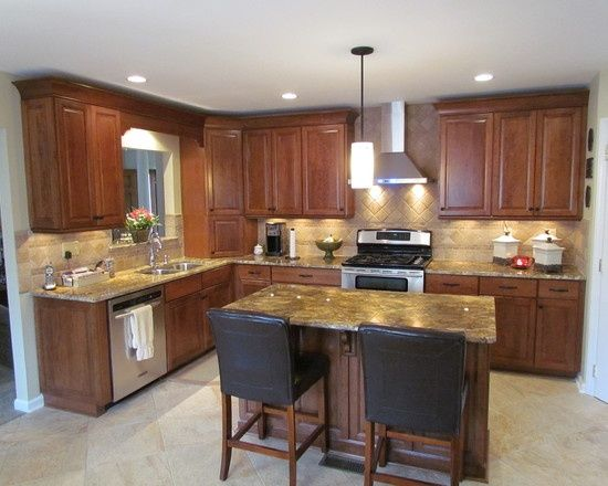 L Shaped Kitchen Designs With Island | Shaped Kitchen Island Design,  Pictures, Remodel