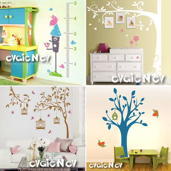 Nursery Decor vinyl wall decals from EVGIE