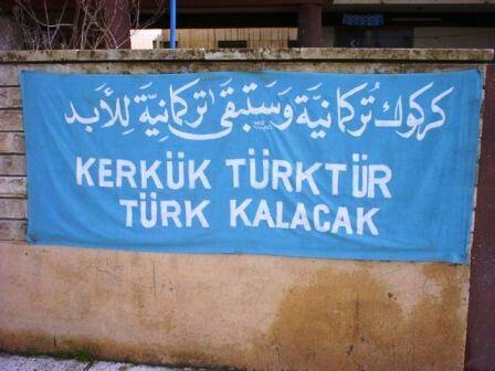 Tarihtir adil hakem Sen kadar mende TÜRK'EM Sense hür TÜRKİYEMSIN  Mense esir KERKÜK'EM...