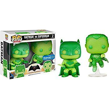Funko Pop Batman Vs. Superman Glow In the Dark Exclusive 2 pack: Toys & Games