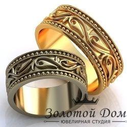 """Обручальные кольца """"Лилии"""" без камней"""