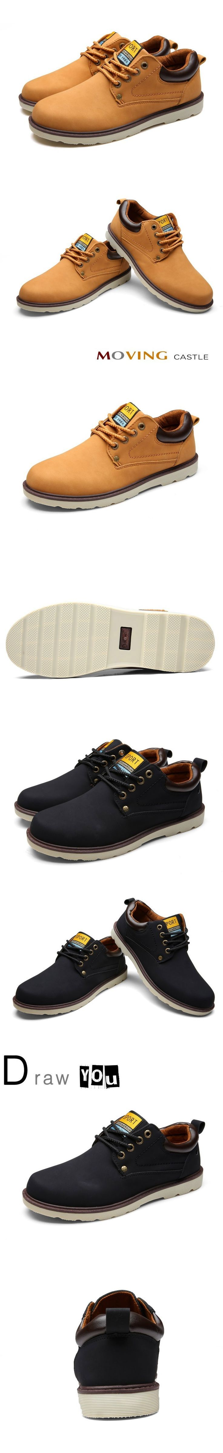 2016 Hot Sale Man Spring Autumn Shoes Lace-up Style Pu Leather Fashion Trend Casual Round Toe Safety Men Work Shoe