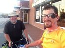 I saw another biker about halfway into today's ride, and it turns out he's also biking to Mexico and he's SEEN MY YOUTUBE VIDEOS! Ed and I are now joining forces--at least across the border and possibly to Monterrey and beyond. He's kind, an out-of-the-box thinker like me and my dad, a hell of a lot of fun to talk to, and his knowledge and presence are contributing to a greater sense of safety and fun for me.