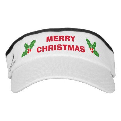#customize - #Funny Merry Christmas in July sun visor cap hat