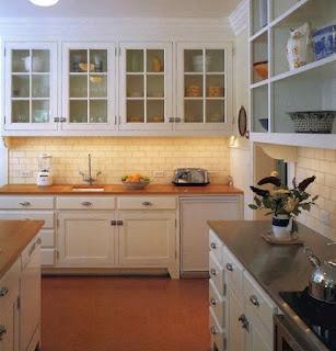 White Kitchen Butcher Block Countertops Cork Floor My Kitchen Ideas Pinterest Butcher