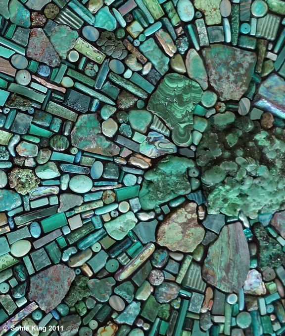 "Sonia King, mosaic artist, educator and author, creates contemporary mosaics for gallery, architectural and home settings. Her award-winning mosaic art is exhibited internationally and represented in private, public and museum collections. Sonia King teaches advanced mosaic workshops around the world and wrote the bestselling book ""Mosaic Techniques & Traditions""…"