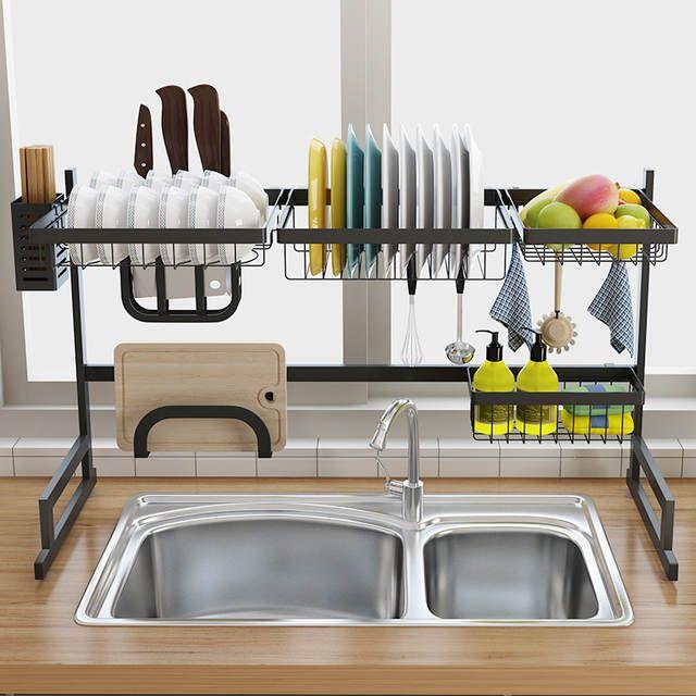 Excellent Online Shop Stainless Steel Sink Drain Rack Kitchen Shelf Download Free Architecture Designs Philgrimeyleaguecom