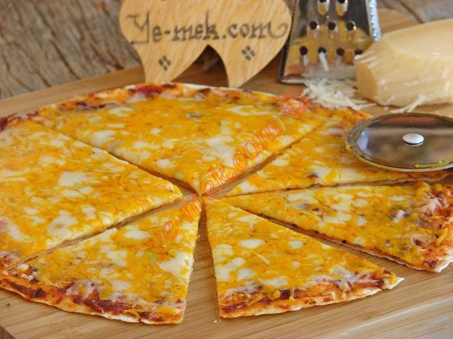 4 Käse Tortilla Pizza Rezept (Bild) | Einfach und praktisch