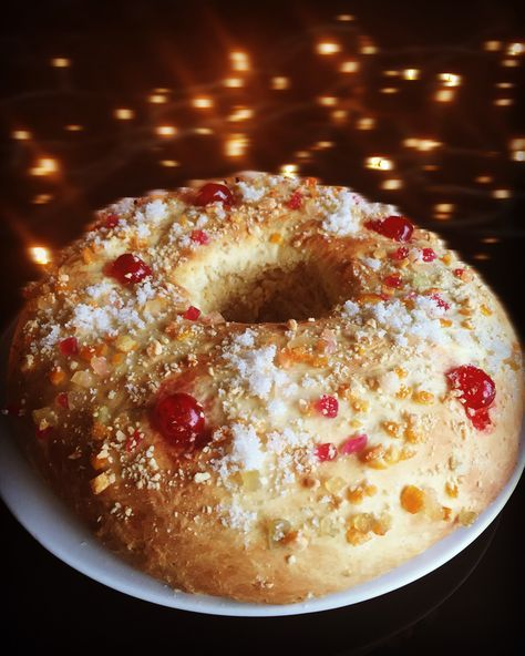 3 Kings Cake recipe. Spanish traditional dessert that people have on the 6th January. Food Tradition in Spain. See recipe on Authentic Spanish Recipes. Desserts