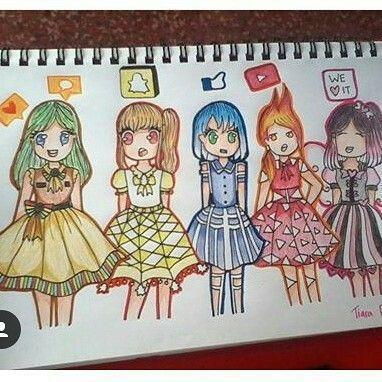 Social Media Drawing Cartoons