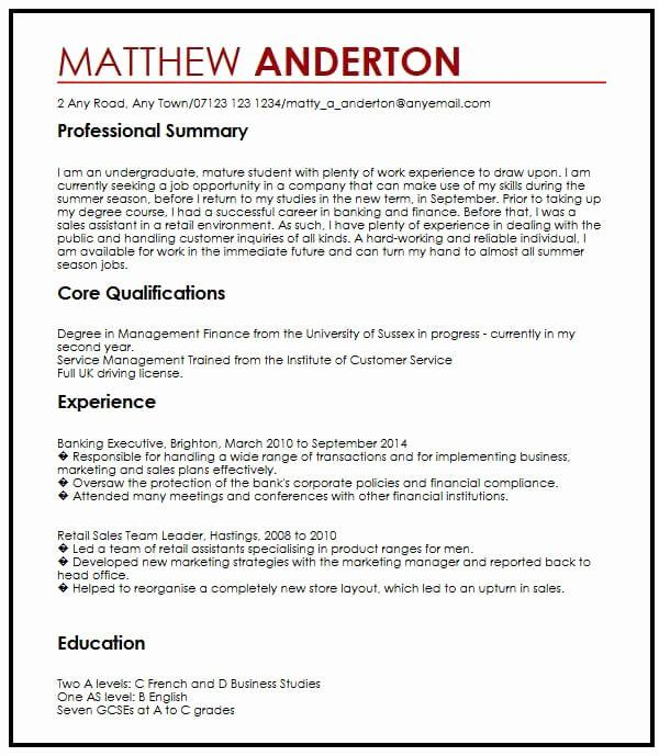 Student Job Part Time Resume Sample Best Resume Examples