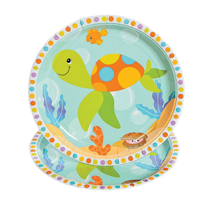 Under The Sea Dinner Plates   OrientalTrading.com