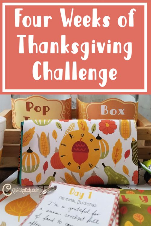 4 Weeks of Thanksgiving Challenge – Relief Society