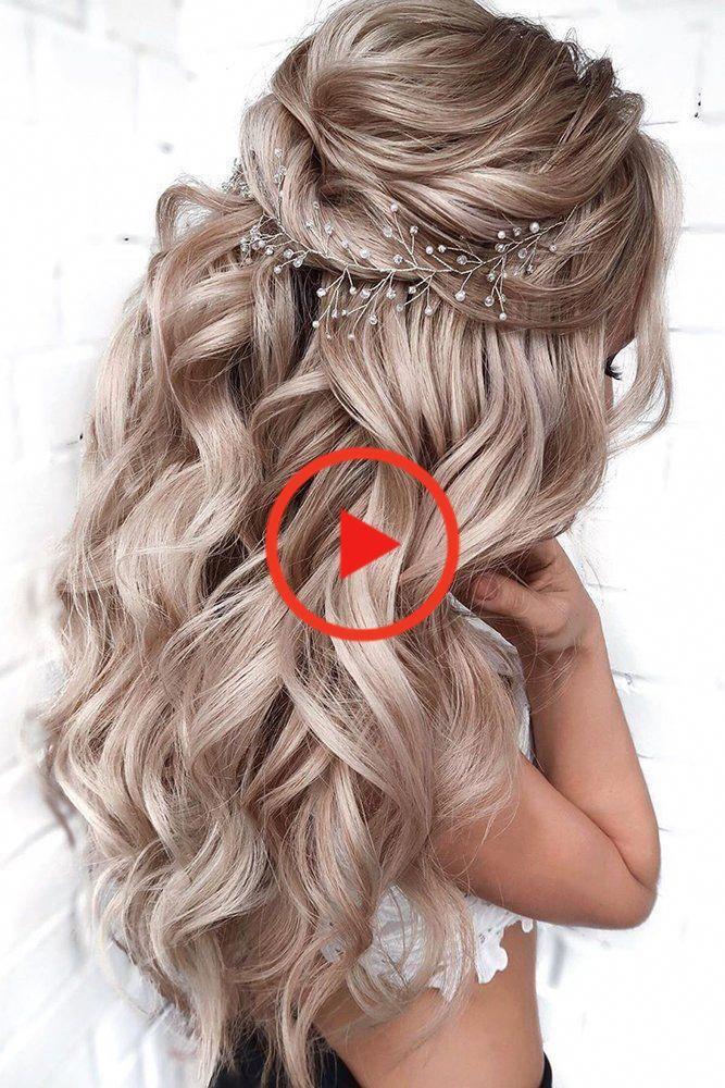 39 Pinterest Hochzeit Frisuren Ideen Pinterest Hochzeit Frisuren Lange Blonde Halfte Bis Losen Hair Styles Elegant Wedding Hair Long Hair Wedding Styles