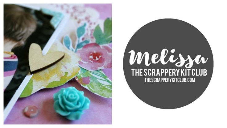 "Join Melissa over on the YouTube channel as she shares her process o her first layout for The Scrappery using the November 2016 ""Lilly"" kits."
