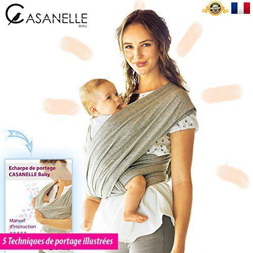Écharpe de portage bébé | porte bebe facile ★★ OFFERT 5 Techniques de portages BONUS ★★ Adoptez une position naturelle pour l'allaitement…