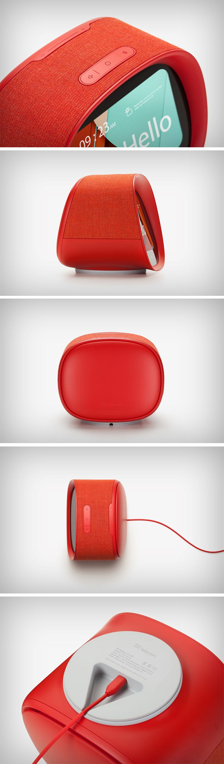 Bringing their funky, playful, retro design sensibilities to yet another product, BKID reinvents the artificial intelligence concierge for SK Telecom with their product, the Fairy. Designed to go head-on with the likes of Amazon's Echo, Google's Home, and Apple's Homepod, the Fairy is probably the first ever AI assistant to enter your home, coming from a national telecom service.