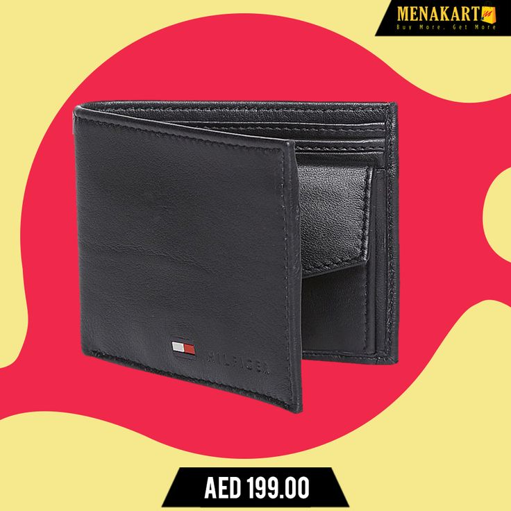 Buy Tommy Hilfiger Stockton Bifold Wallet for Men - Black for AED only.