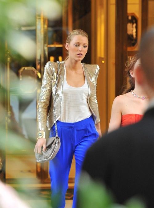 love GG styling - Cobalt pants