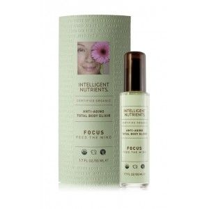 || Certified Organic Total Body Elixir: Focus—Feed the Mind - $32 || Seven luxurious, hydrating, anti-aging, all over body tonics – designed to promote relaxation, stimulation and self-healing as a massage oil and as a moisturizer for certified organic, healthy skin. Created to feed and protect the skin, these antioxidant rich elixirs contain Intellimune Seed Oil Complex to improve skin quality, promoting even skin tone, firmness and luminosity.