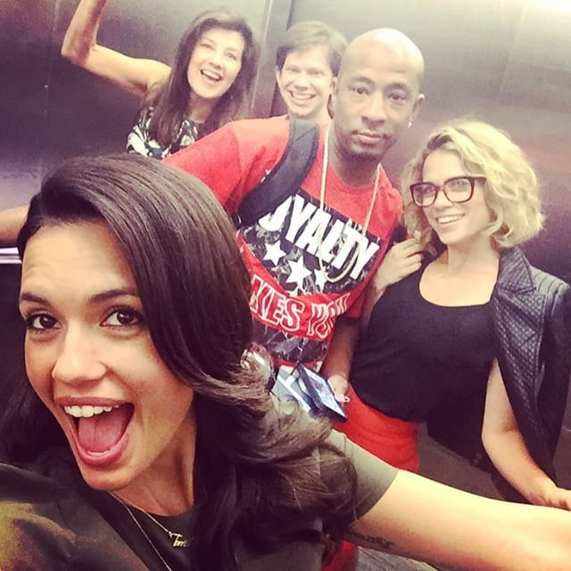 Pin for Later: This Huge One Tree Hill Reunion Will Give You the Warm and Fuzzies  Torrey DeVitto helped herself to a selfie, with Daphne Zuniga, Lee Norris (Mouth!), Antwon Tanner, and Lenz.
