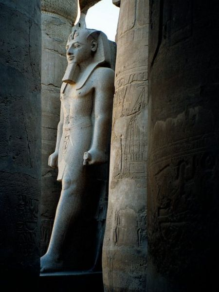 Pharaonic statue in Luxor Temple