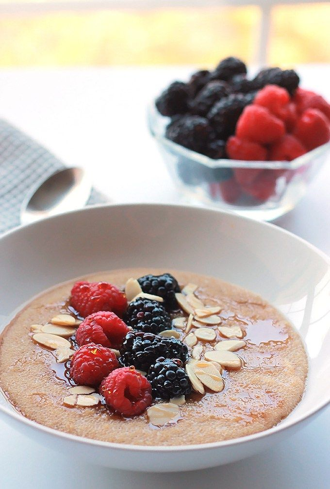Cinnamon Amaranth with Berries, a delicious gluten-free, protein, nutrient packed breakfast filled with nutty, toasty flavor.