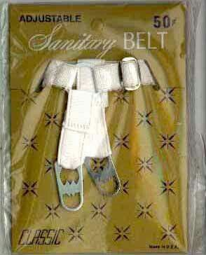 These things were so horrible! You had to strap your sanitary pad to the buckles!
